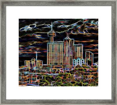 San Antonio Lights The Night Framed Print by Wendy J St Christopher