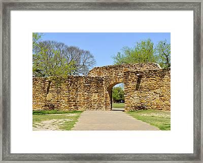 San Antonio Mission San Jose Framed Print by Christine Till