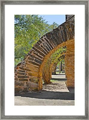 San Antonio Mission Walk San Jose Framed Print by Christine Till