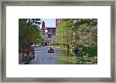 San Antonio River Walk Framed Print by Christine Till
