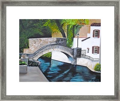 San Antonio River Walk Framed Print by Melissa Torres