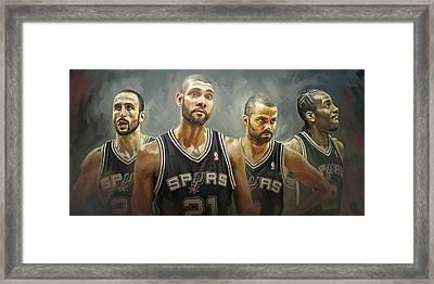 San Antonio Spurs Artwork Framed Print by Sheraz A