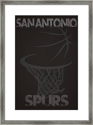 San Antonio Spurs Hoop Framed Print by Joe Hamilton
