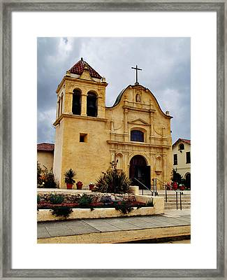 San Carlos Cathedral - Monterey California Framed Print by Glenn McCarthy Art and Photography