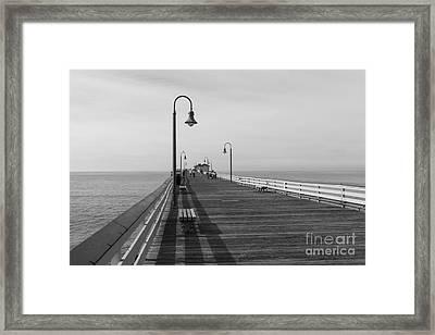 San Clemente Pier Framed Print by Ana V  Ramirez