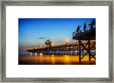 San Clemente Pier At Sunset Framed Print by Mountain Dreams
