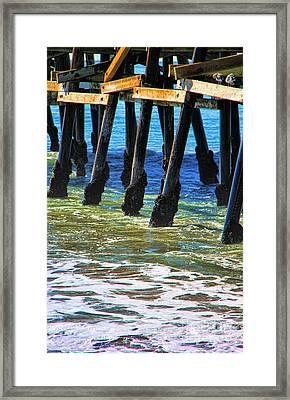 San Clemente Pier Framed Print by Mariola Bitner