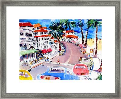 San Clemente Strip Framed Print by John Dunn