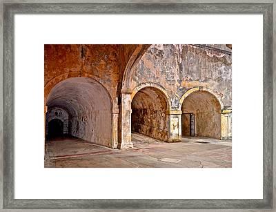 San Cristobal Fort Tunnels Framed Print by Ricardo J Ruiz de Porras