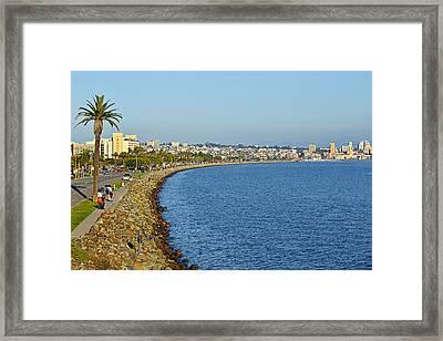 San Diego - America's Finest City Framed Print by Christine Till