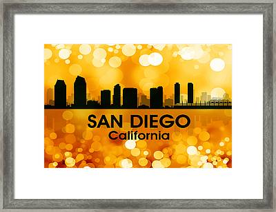 San Diego Ca 3 Framed Print by Angelina Vick