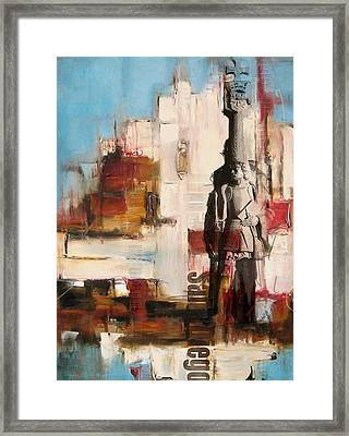 San Diego City Collage 2 Framed Print by Corporate Art Task Force