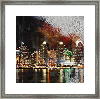 San Diego City Collage 3 Framed Print by Corporate Art Task Force