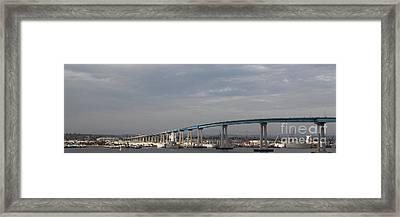 San Diego Coronado Bridge 5d24388 Framed Print by Wingsdomain Art and Photography