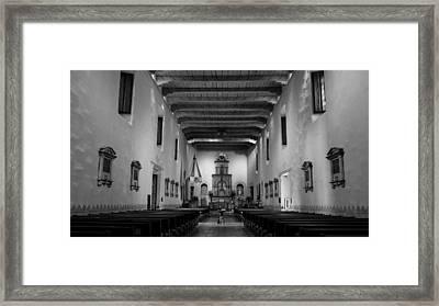 Sanctuary - San Diego De Alcala Framed Print by Stephen Stookey