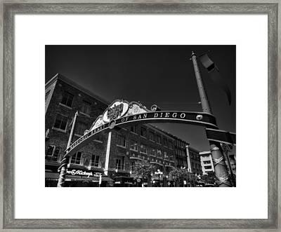 San Diego - Gaslamp Quarter 001 Bw Framed Print by Lance Vaughn