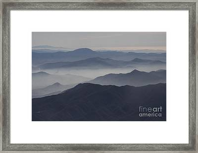 San Diego Hills In Fog And Haze Framed Print by Darleen Stry