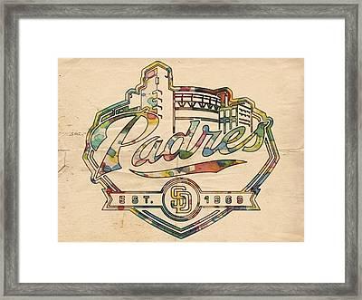 San Diego Padres Memorabilia Framed Print by Florian Rodarte