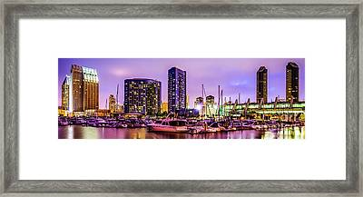 San Diego Panorama Photography Framed Print by Paul Velgos