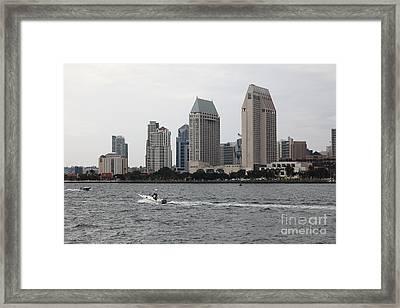 San Diego Skyline 5d24334 Framed Print by Wingsdomain Art and Photography