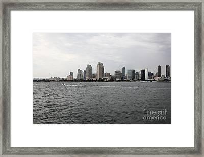 San Diego Skyline 5d24336 Framed Print by Wingsdomain Art and Photography
