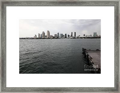 San Diego Skyline 5d24337 Framed Print by Wingsdomain Art and Photography