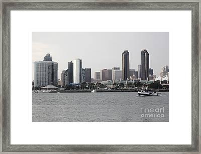 San Diego Skyline 5d24380 Framed Print by Wingsdomain Art and Photography