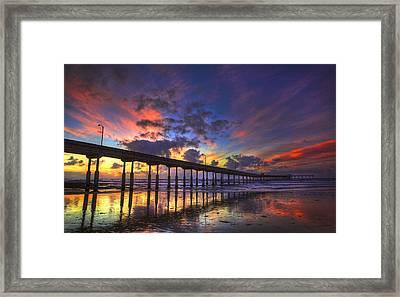 San Diego Sunset Framed Print by Kenny  Noddin