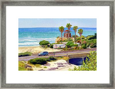 San Elijo Campground Cardiff Framed Print by Mary Helmreich