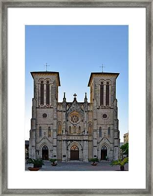 San Fernando Cathedral - San Antonio Tx Framed Print by Christine Till