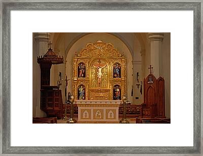San Fernando Cathedral Retablo Framed Print by Christine Till