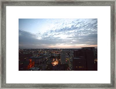 San Fernando Cathedral Skyline Framed Print by Shawn Marlow