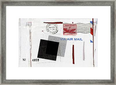 San Francisco 1952 Air Mail Framed Print by Carol Leigh