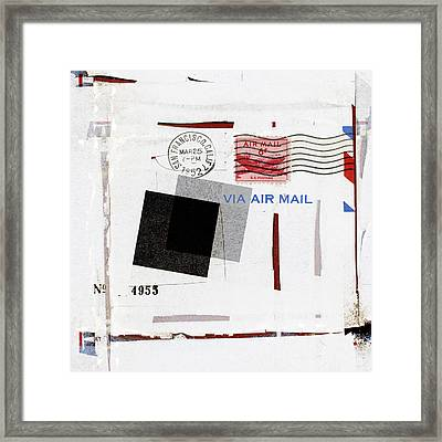 San Francisco 1952 Air Mail Square Framed Print by Carol Leigh