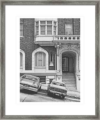 San Francisco 1981 Cars On A Slant Framed Print by ImagesAsArt Photos And Graphics