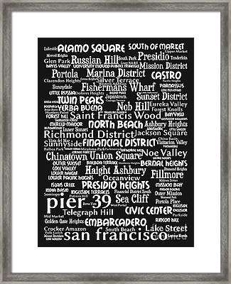 San Francisco 20130710bw Framed Print by Wingsdomain Art and Photography