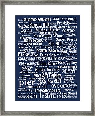 San Francisco 20130710bwco80 Framed Print by Wingsdomain Art and Photography