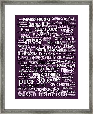 San Francisco 20130710bwma Framed Print by Wingsdomain Art and Photography