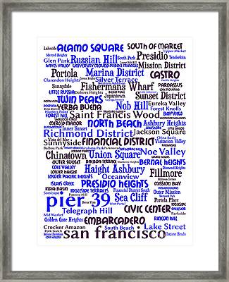 San Francisco 20130710whi Framed Print by Wingsdomain Art and Photography
