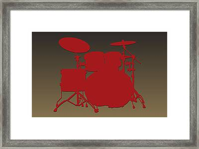 San Francisco 49ers Drum Set Framed Print by Joe Hamilton