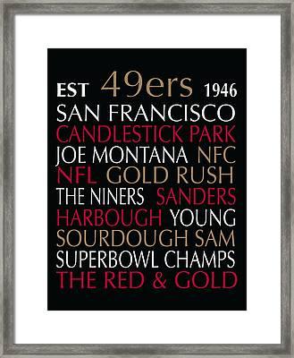 San Francisco 49ers Framed Print by Jaime Friedman