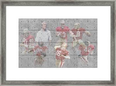 San Francisco 49ers Legends Framed Print by Joe Hamilton