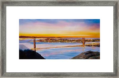 San Francisco Abstract Framed Print by Manit