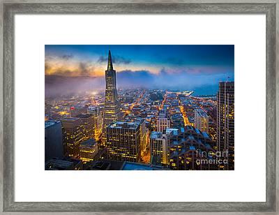 San Francisco After Dark Framed Print by Inge Johnsson
