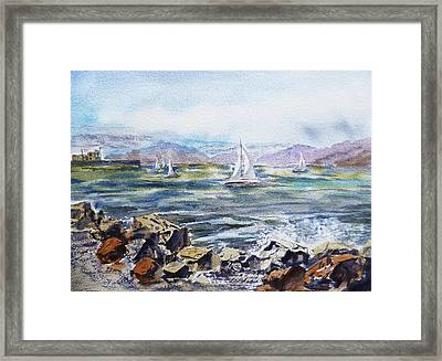 San Francisco Bay From Richmond Shore Line Framed Print by Irina Sztukowski