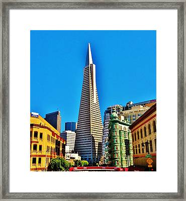 San Francisco Bus Ride Framed Print by Tom  Shaw