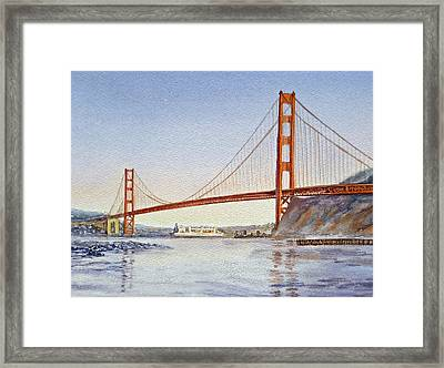 San Francisco California Golden Gate Bridge Framed Print by Irina Sztukowski