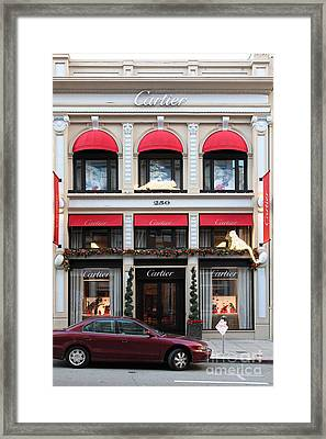 San Francisco Cartier Storefront - 5d20567 Framed Print by Wingsdomain Art and Photography