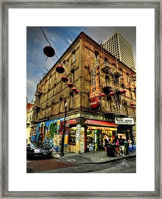 San Francisco - Chinatown 006 Framed Print by Lance Vaughn