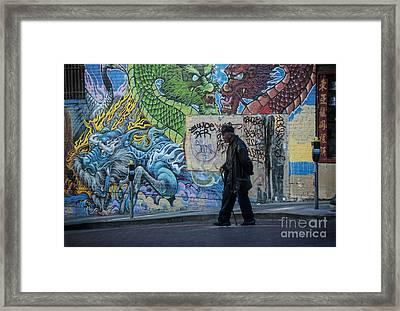 San Francisco Chinatown Street Art Framed Print by Juli Scalzi